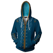 COSMORE Men's Devil May Cry Cosplay DMC Costume Hoodie Adult Zipper Sweatshirts
