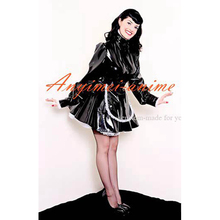 Free Shipping Sexy Sissy Maid Dress Lockable Pvc Dress Maid Uniform Cosplay Costume Tailor-made
