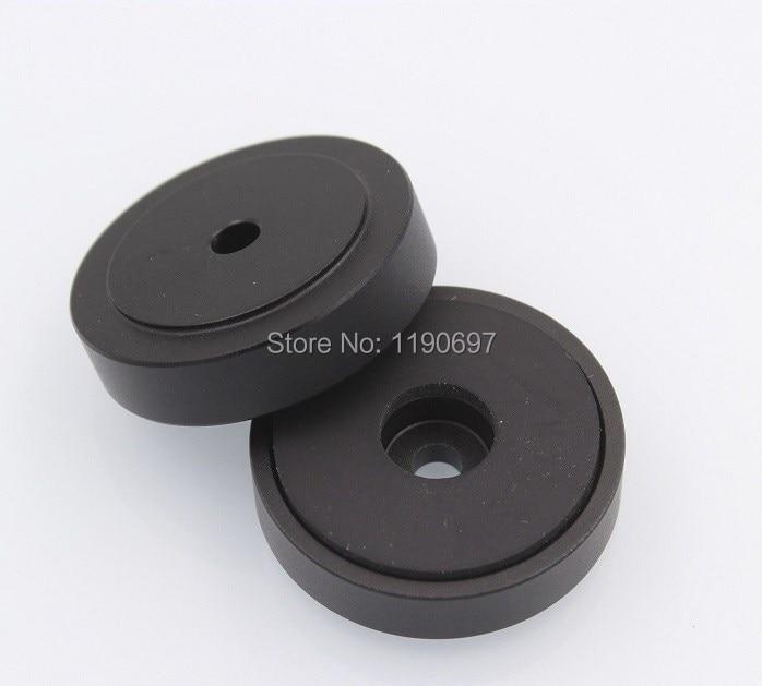 Rubber Ring Shock Absorber Top Aluminum Machine Foot Amplifier Feet 40*20MM 4PCS