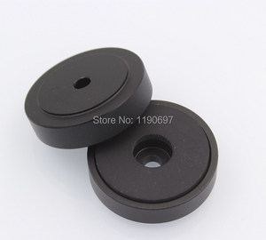 Image 5 - Rubber Ring Shock Absorber Top Aluminum Machine Foot Amplifier Feet Speaker Turntable Feet 40*10MM 2Pieces Free Shipping