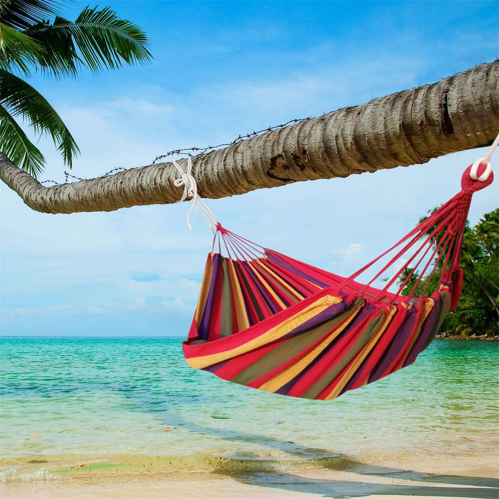 New Arrival Huge Single Cotton Fabric Hammock Portable Camping Air Chair Outdoor Sport Hmoe Travel Garden Swing Hanging Chair стоимость