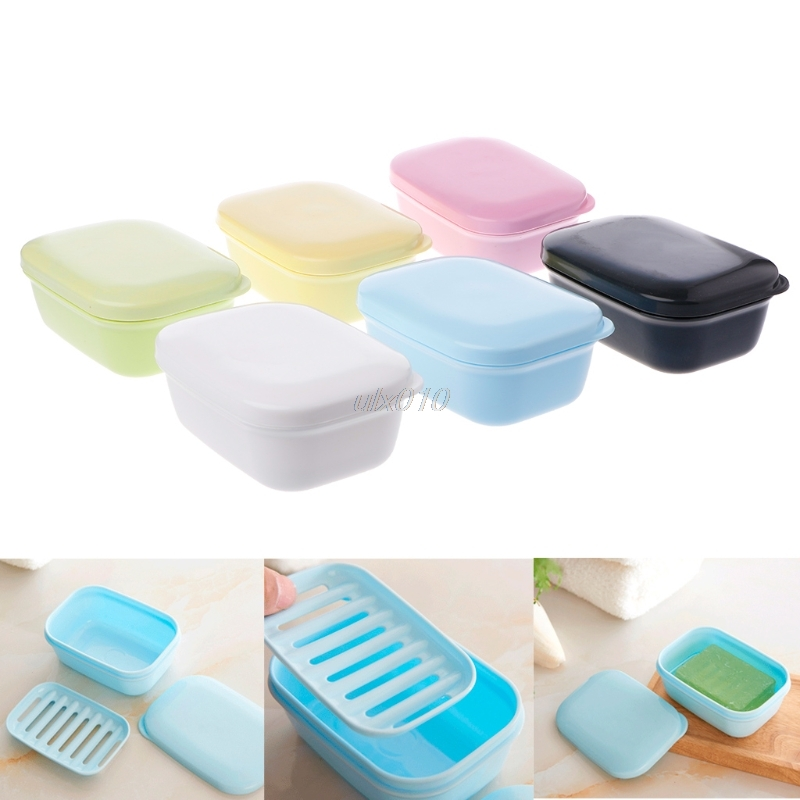 Portable Drain Layer Travel Washing Soap Box With Lid Seal Leak-proof Dish Case July Wholesale&DropShip