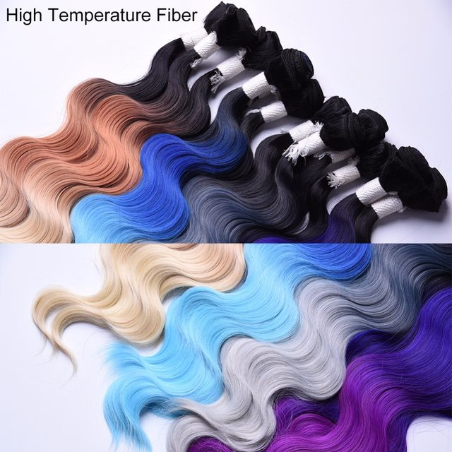 Online Shop Chorliss Body Wave Ombre Ink Grey Synthetic Hair Weaves