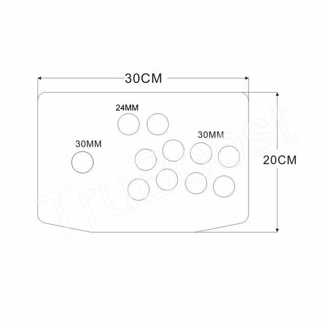 DIY Arcade Joystick Kits Replacement Part 10 Buttons Arcade Joystick Acrylic Panel and Case