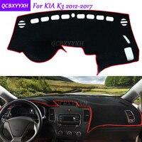 For KIA K3 2012 2017 Dashboard Mat Protective Interior Photophobism Pad Shade Cushion Car Styling Auto