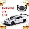 Новый Год Подарок 1/14 Continental GT3 RC Гоночный Автомобиль Электрические Игрушки Дрейф Корабля USB Электрическая Скорость Двигателя Коллекция Подарок
