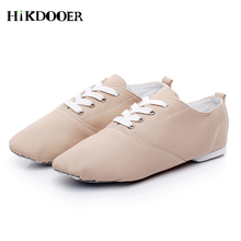 2019 New Women Jazz Shoes Lace-up PU Leather Flat Dance Shoes Top Quality Girl Ladies Jazz Ballet Shoes цена и фото