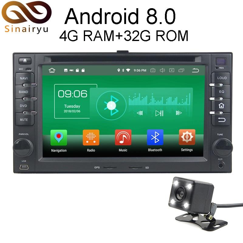 4 г Оперативная память Android 8.0 автомобильный DVD для Kia Cerato Sportage Ceed Sorento Spectra Рио Octa core 32 г Встроенная память радио GPS плеер головное устройство