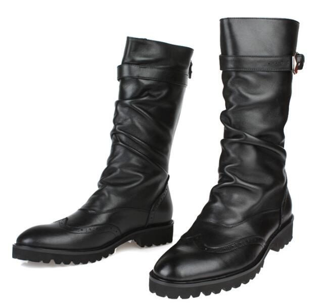 get cheap mens knee high leather boots aliexpress