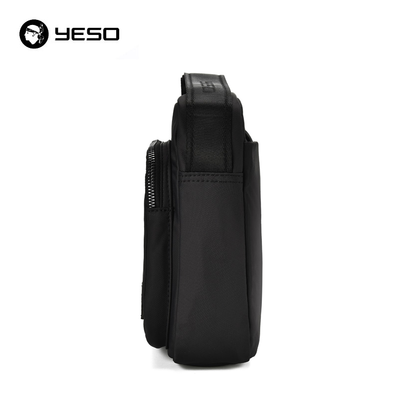 YESO Men's Messenger Bag Waterproof Oxford Bag 2018 New Fashion Casual Crossbody Bags Shoulder Bag Black