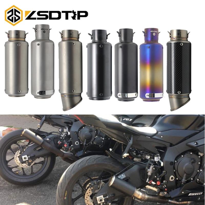 ZSDTRP Motorcycle Exhaust Universal Muffler Motorbike 51 60mm SC Exhaust For Honda Kawasaki Yamaha KTM DUCATI