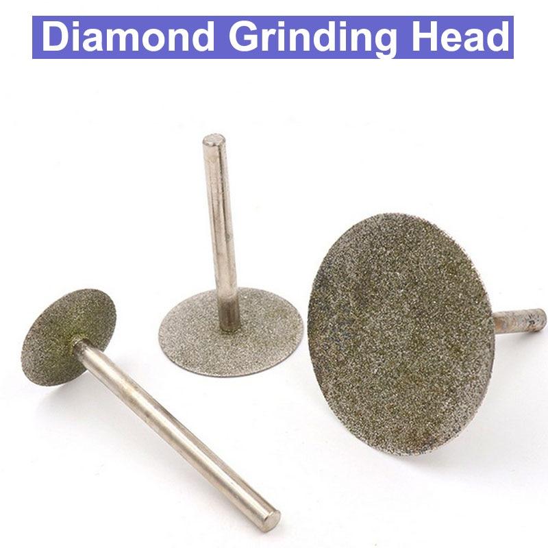 6mm Handle Thin Slice Diamond Grinding Head Diameter 6mm-60mm Burrs Bits Dremel Rotary Carving Polishing Cutting Tools diamond tools for granite