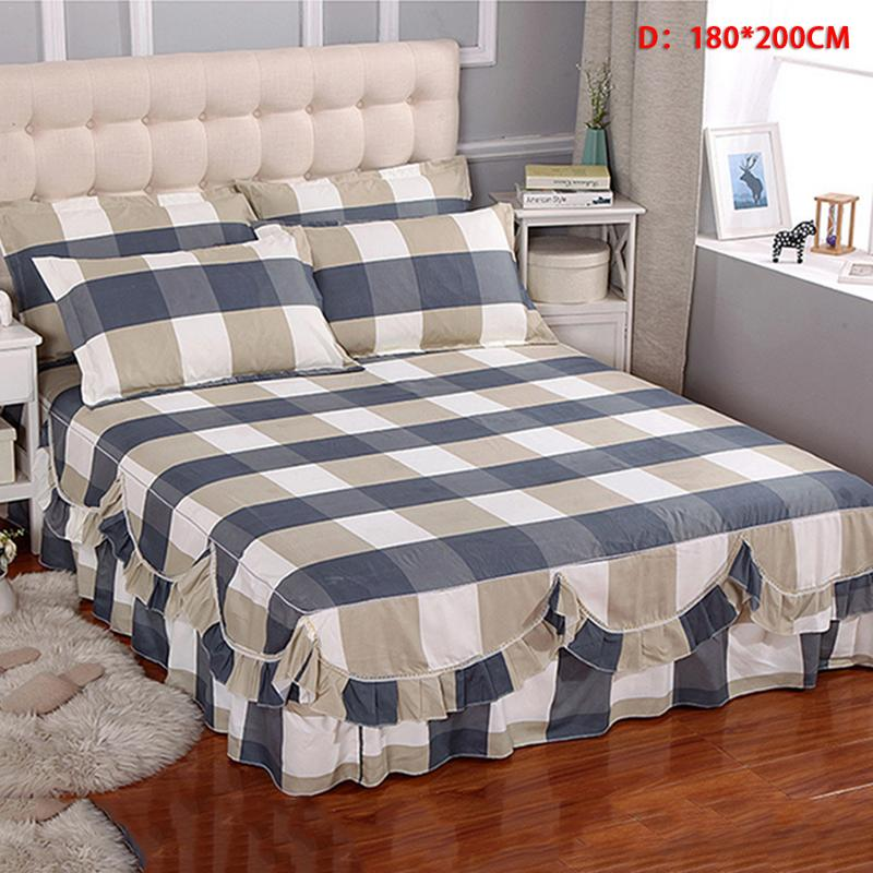 23Style Romantic Two Layer Bed Skirt Elegant Plaid Floral Bedspread Satin Cotton Bed Sheet for Wedding Home Decoration Bed Cover23Style Romantic Two Layer Bed Skirt Elegant Plaid Floral Bedspread Satin Cotton Bed Sheet for Wedding Home Decoration Bed Cover