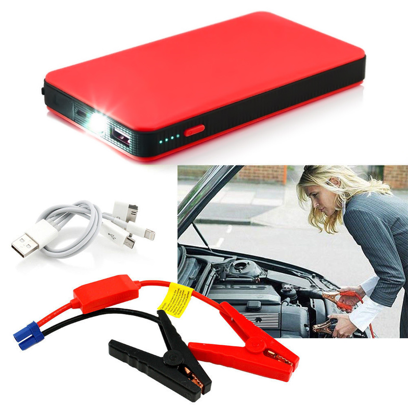 Portable Phone Auto Car Jump Starter Emergency Power Bank Battery Car Battery Booster 12V Mini Power Bank LED Light