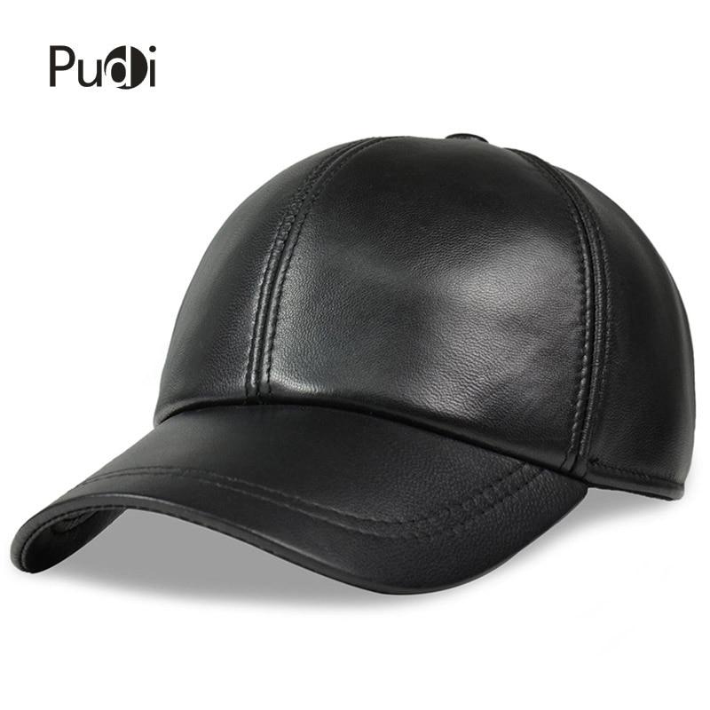 ХЛ008 мушка прољетна кожна подесива чврста луксузна бејзбол капа потпуно нове мушке црне спортске капе за голф и камионере