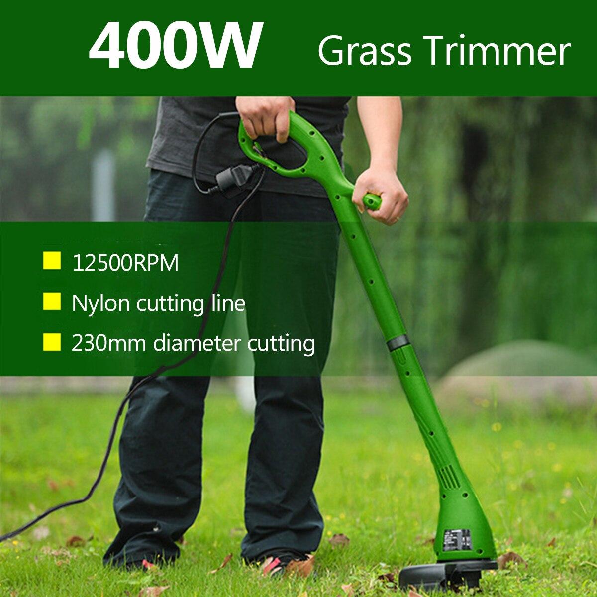 400W Electric Grass Trimmer Strimmer Cutter Lawn Mower Garden Heavy Duty 230mm Cutting Home Garden Grass Cutter Pruning Trimmer цена