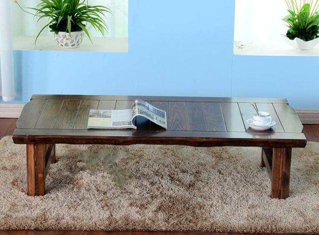 Móveis de Madeira maciça Dobrável Mesa Antiga Grande Tamanho 150*68 cm Mobiliário Asiático Coreano Sala de estar mesa de Café Mesa de Centro perna De Madeira