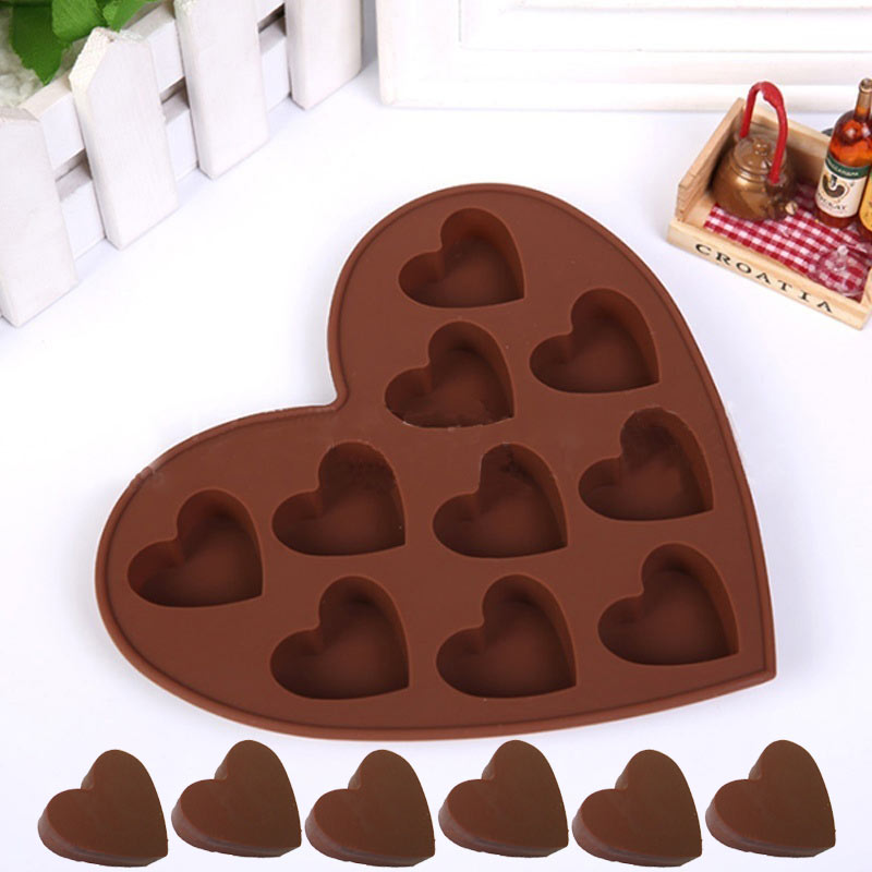 Lovely Heart Shape Silicone Cake Mold DIY Chocolate Soap ...