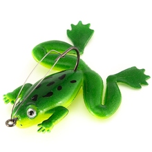 Artificial Fishing Silicone Bait Lure With Treble Hook Soft Frogs Lures Carp Tackle Wobblers