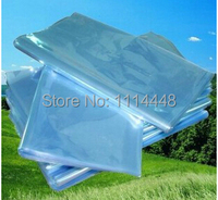 500pcs 14 x 20 cm PVC Heat Shrinkable Bags Film Wrap Cosmetic Packaging Wrap Materials