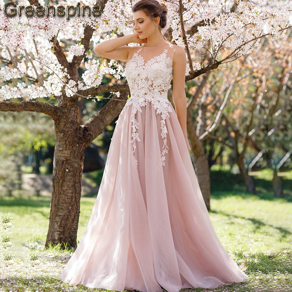 Greenspine Blush Pink Wedding Dress A Line 2019 Robe De Mariee