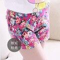 Shorts novos Meninas Verão Boutique de Moda Impressão Flor Shorts Idade 5-8A Crianças Roupas Das Meninas Do Bebê