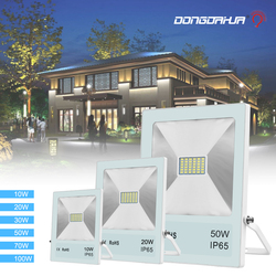 Proiettore ip65 led impermeabile ha condotto il riflettore fuori di porta esterna di luce per il proiettore 10 W 20 W 50 W 70 W 100 W luce esterna della parete