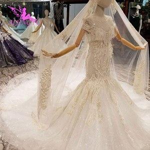 Image 4 - AIJINGYU Frocks düğün Couture abiye düğün 2021 2020 ipek kırpma üst türkiye hint uzun tren cüppe şeklinde gelinlik Vintage
