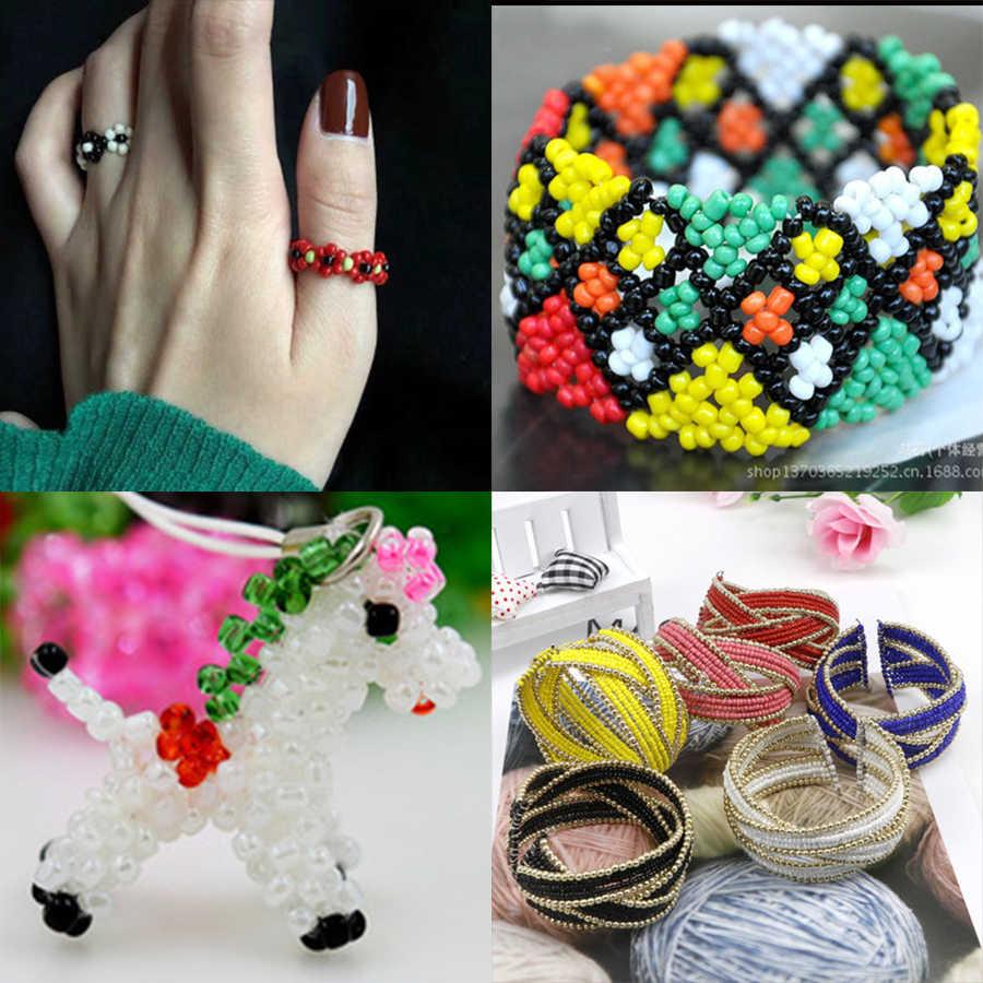 Approx.1000 2 Mm Perak Dilapisi Bahasa Swedia Glass Beads untuk Perhiasan Membuat Hiasan Seedbeads Kralen Pengatur Jarak Manik-manik Rondelle Manik-manik DIY Bijoux