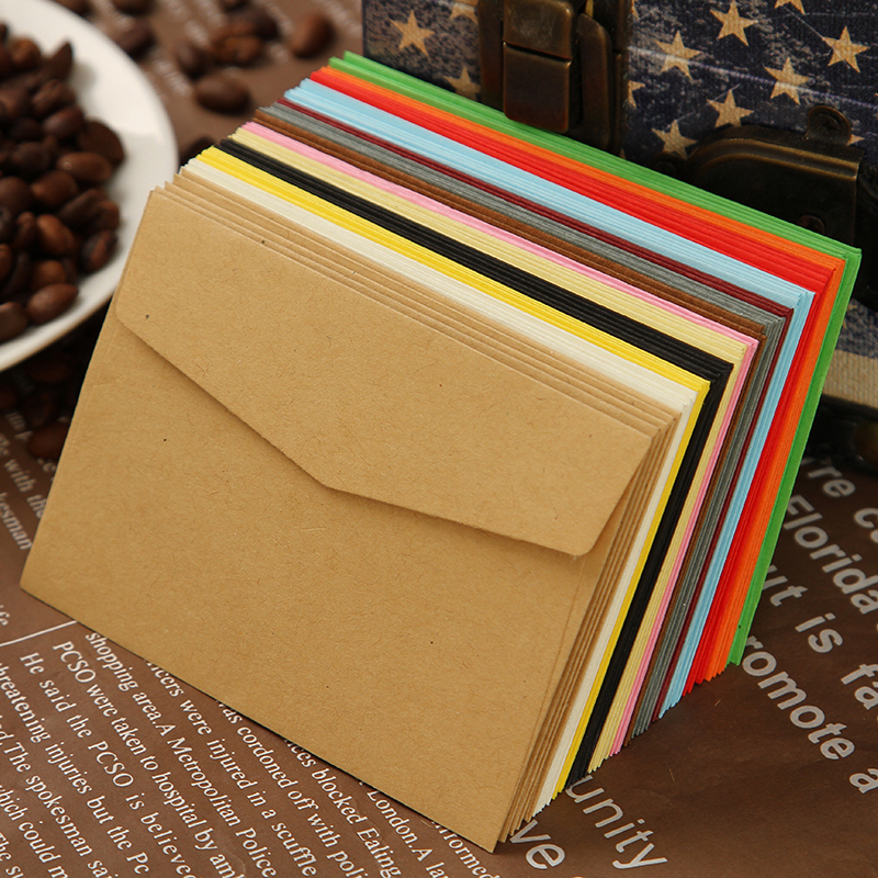 XXC658 Color Blank Envelopes 100x70mm Bank Card Envelopes 120GMS Greeting Cards Mini Envelopes 100PCS