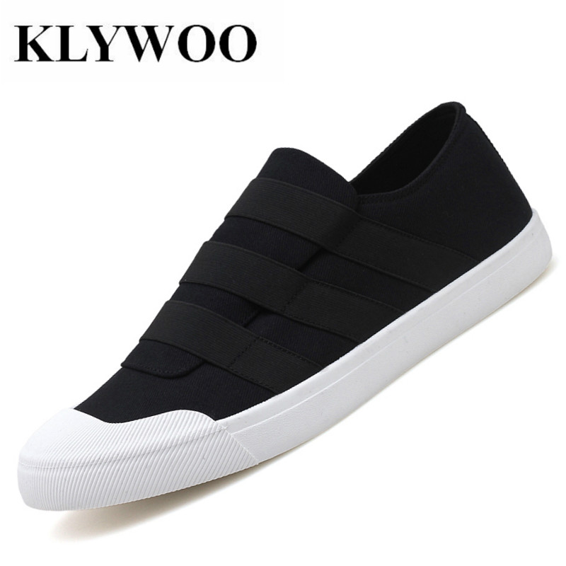 KLYWOO Mens Canvas Shoes Light Loafers Mens Shoes Casual Slip on Fashion Sneakers Breathable Men Driving Shoes Male Footwear
