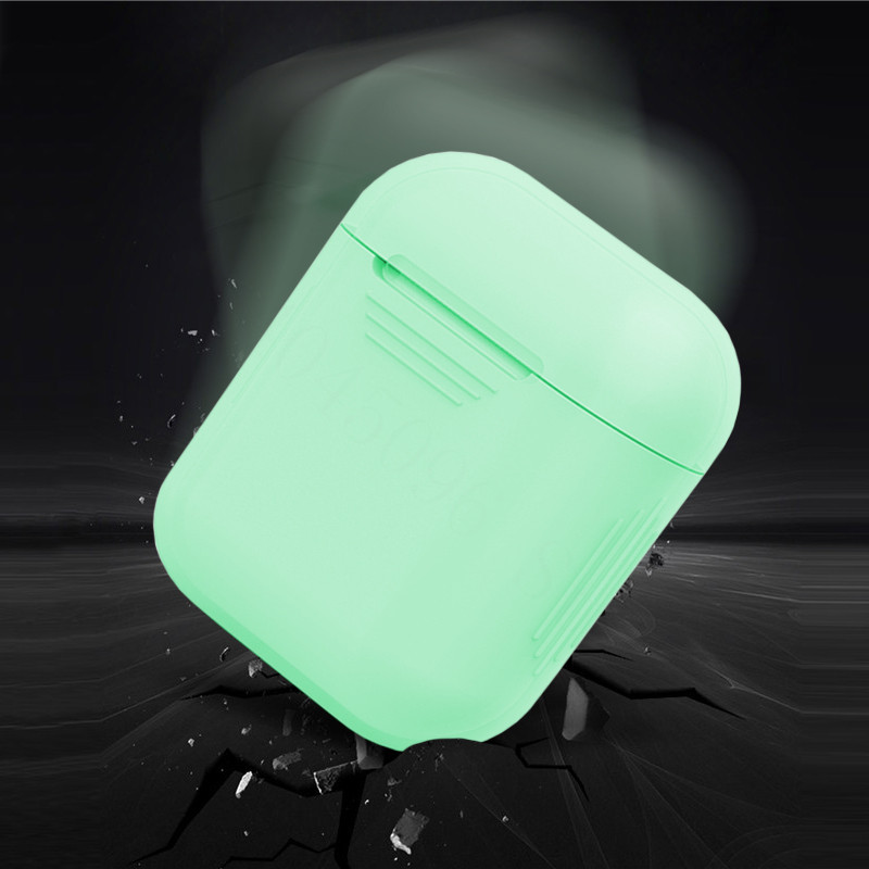 Silicone Shock Proof Protective Case Holder Shell Cover Glow In The Dark For Apple AirPods Wireless Earphone Accessories