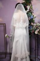 2t Lace cathedral veil, hand beaded wedding veils, bridal lace vail, chapel elegant ivory veil headpiece& comb