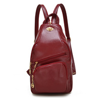 New Hot Famous Women Double High Quality Pu Leather Backpack Multi Function Bags For Ladies Fashion