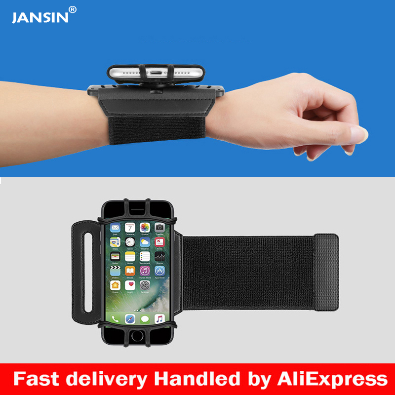 meet 561a1 cec25 US $8.23 44% OFF|Jansin Sports Armband Case for iPhone X XS XR 8 7 8 Plus 7  Plus Wrist Running Sport Arm Band Bag for 4 6 inch Phone Devices-in ...