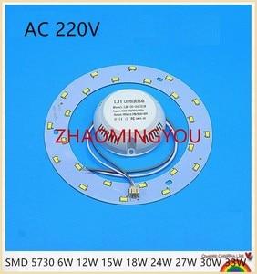Image 1 - 6W 12W 15W 18W 24W 36W 80W 100W LED PANEL Circle Ring Light 220V SMD 5730 LED Round Ceiling  lamp for Dining room