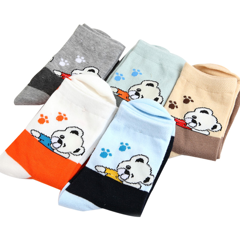 5 Pairs/Package 2016 Spring&autum Cartoon Pattern Cotton Tube Children Socks 1-12 Year Kids Socks Boys Girls Socks