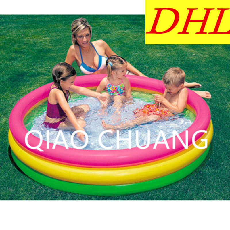 Inflatable Swimming Pool Creative Large-scale Tricyclic Round Thicken PVC Home Use Pool Baby Play With Water Bath Pool G964