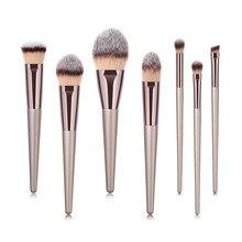 Жидкая кисть для основы 7 шт. деревянная косметическая кисть для бровей Тени для век наборы кистей для макияжа Набор инструментов de brochas para maquillaje# y4