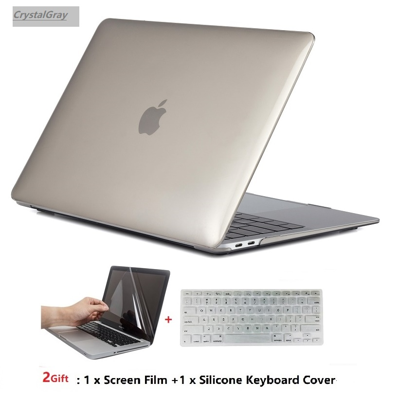 LCD Screen Keyboard Cover 3 in 1 Crystal GREY Case for Macbook PRO 15/""