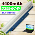 Blanco 4400 mah batería para acer aspire one 522 722 aod255 aod257 one d255 aod260 ak.003bt. 071 al10b31 bt.00603.114 lc. btp00.129