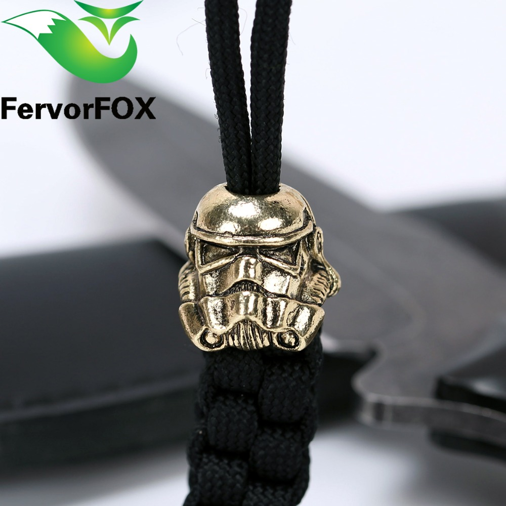 1pc Paracord Beads Metal Charms үшін Paracord Білезік Аксессуарлар Survival, DIY Pendant Buckle for Paracord Knife Lanyard