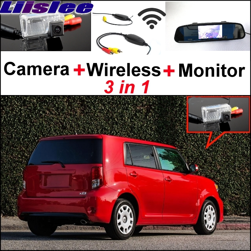 Liislee 3 in1 Special Rear View Camera + Wireless Receiver + Mirror Monitor Easy DIY Back Up Parking System For Scion XB XD