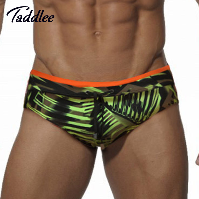 Taddlee Swimming Briefs Bikini Swimsuits-Pad Surf-Board Gay-Penis-Pouch Brand Man WJ