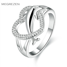 Heart Animal Ring Crystal Love Wedding Rings Design With Stones First Communion Gifts For Women Anelli Animali Donna SPCR708