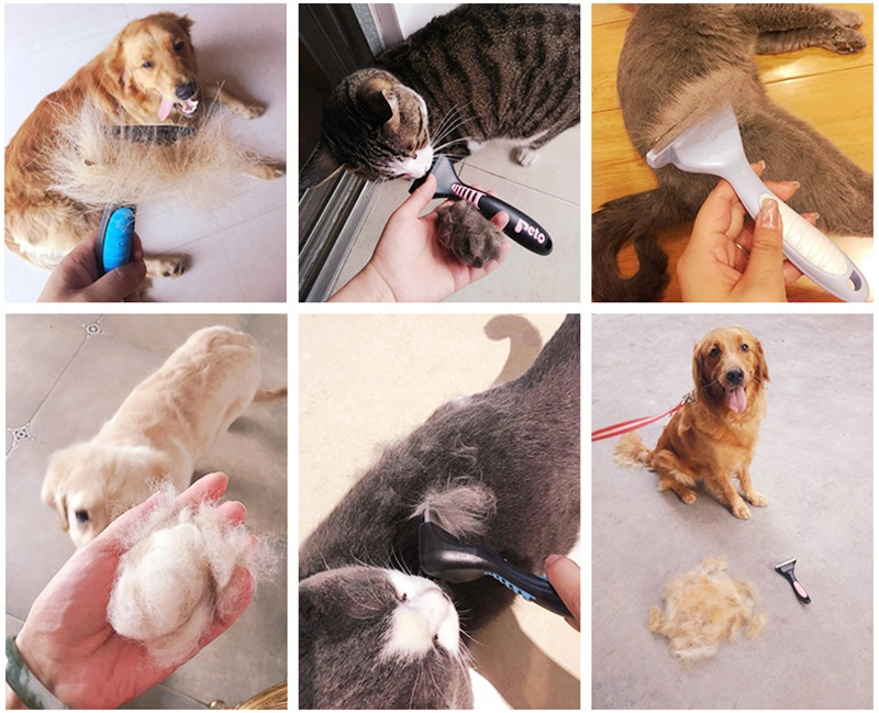 Pet Dog Cat Hair Removal Brush Comb Furmins Pet Grooming Tools Hair Shedding Trimmer Comb for Cats Dogs 24