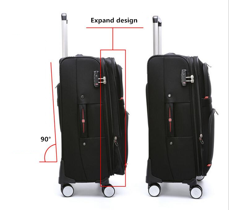 New 1680Nylon Suitcase Carry on Spinner Wheel Travel Luggage 18Trolley bag Wheeled Bag
