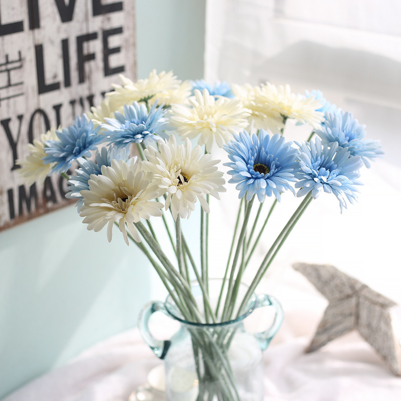 3pcs/lot artificial Gerbera silk daisy flowers simulation plant for home party garden hotel decoration fake flowers table decor