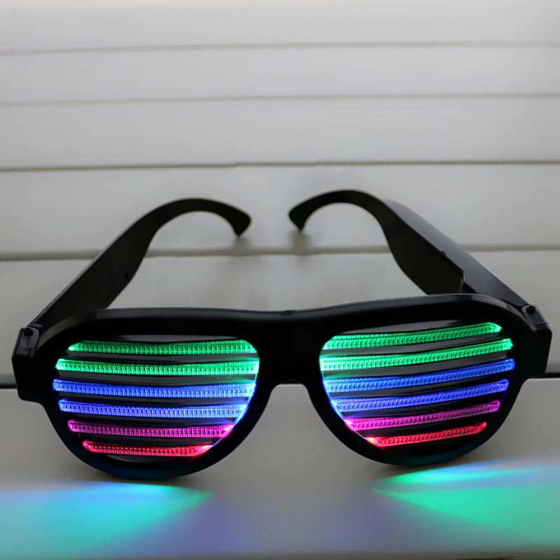 Fashion LED Flashing Glasses Glowing Glasses Light Up Eyeglasses Kid Toys Christmas Decorations Party Supplies