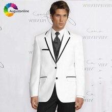 2019 белые мужские костюмы для выпускного вечера Свадебный костюм